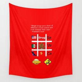 Crowd contol Wall Tapestry