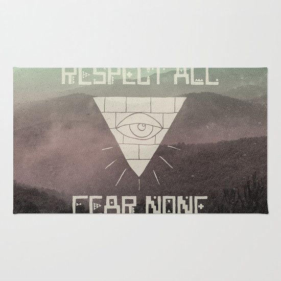 FEAR NONE Rug