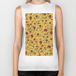 sunflower garden Biker Tank