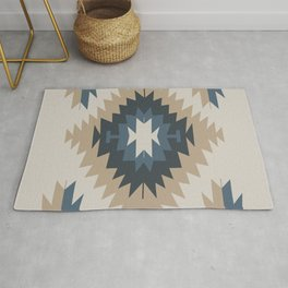 Santa Fe Southwest Native American Indian Tribal Geometric Pattern Rug