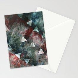 Dark Triangles Stationery Cards