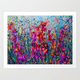 Inhale Love Pollock Inspired Abstract Art Print