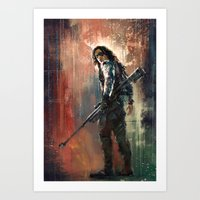 bucky Art Prints featuring Bucky by Wisesnail