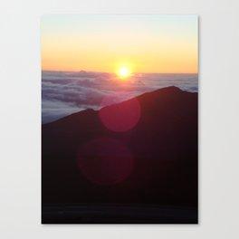 Sunrise over Mt. Haleakala Canvas Print