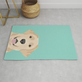 Yellow Lab dog portrait labrador retriever dog art pet friendly Rug