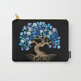Tree of Life - Blue Tumbled Gemstones  Carry-All Pouch