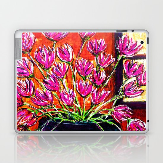 Flowers in Green Vase Laptop & iPad Skin