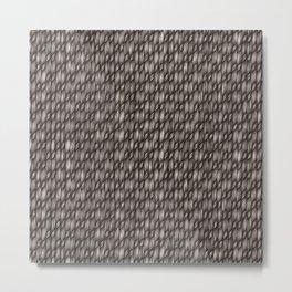 Grey Cross Weave Texture Metal Print