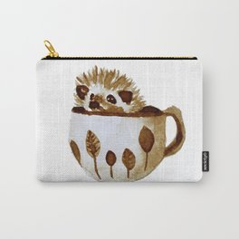 Hedgehog in a Cup Painted with Coffee Carry-All Pouch