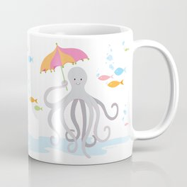Sweet octopus with a Parasol Coffee Mug