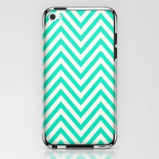 Turquoise Chevron iPhone & iPod Skin