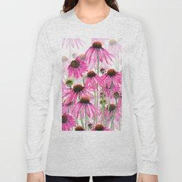 pink coneflower field Long Sleeve T-shirt