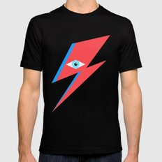 David Bowie  |  Ziggy Stardust  |  Minimalism X-LARGE Mens Fitted Tee Black