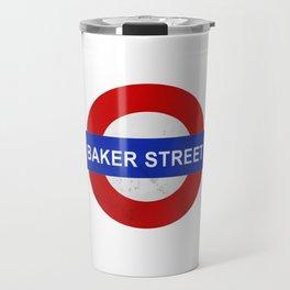 Sherlock Baker Street Print Travel Mug