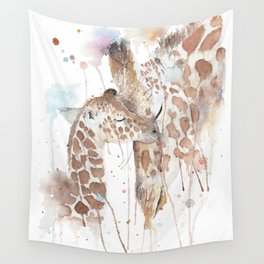 """Watercolor Painting of Picture """"Mother and Son"""" Wall Tapestry"""