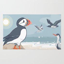 Coastal Birds By The Sea Rug
