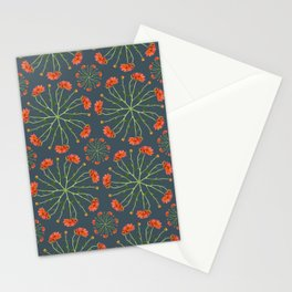Coral Mum Floral Pattern - Realistic Flowers - Chrysanthemum Bloom Pattern Stationery Cards
