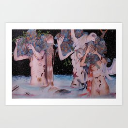 The Fish Gatherers Art Print