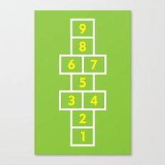 Hopscotch Green Canvas Print