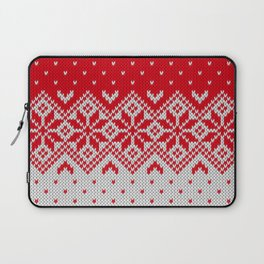 Winter knitted pattern 10 Laptop Sleeve
