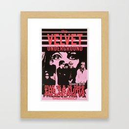 1968 Velvet Underground Concert Gig Vintage Advertising Poster Framed Art Print