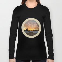 Winter Sunset, Chicago, 2018 Long Sleeve T-shirt