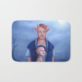 Demon Couple in The Haunted Forest Bath Mat