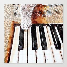 Cat Paw Piano Canvas Print
