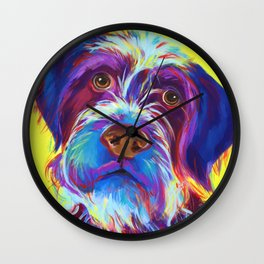 Udo the Wirehaired Griffon Wall Clock