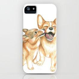 Corgi and Bess iPhone Case