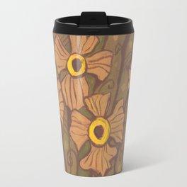 Yellow-eyed flowers Travel Mug