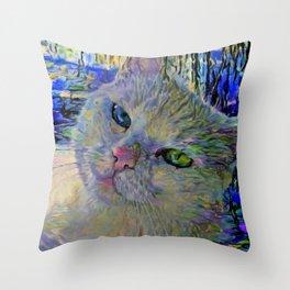 Claude's Cat Throw Pillow