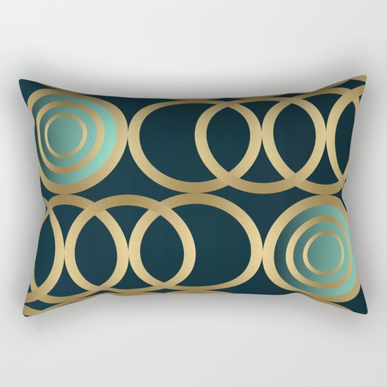 Gold Circles Game Rectangular Pillow