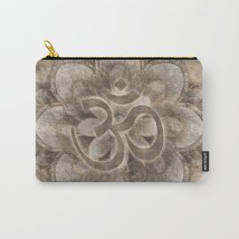 Om Symbol Lotus flower Vintage gold Carry-All Pouch