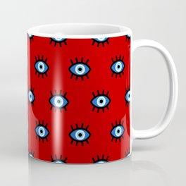 Evil Eye on Red Coffee Mug