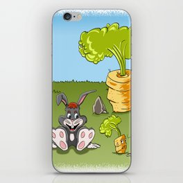 Rabbit and carrot iPhone Skin