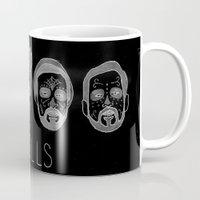 bastille Mugs featuring Bastille Skulls by wellsi