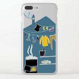 Sauna Clear iPhone Case