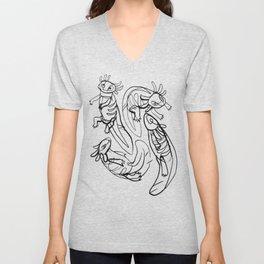 Scribbled Axolotls Unisex V-Neck