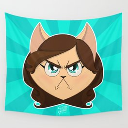 I am NOT cute (Head, without text) Wall Tapestry