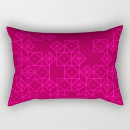 Geometric Pinks Rectangular Pillow