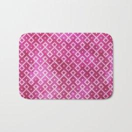 Pink Watercolor & Geometric Pattern Bath Mat
