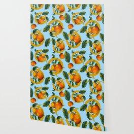 Vintage Fruit Pattern II Wallpaper