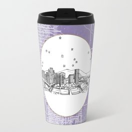 Portland, Oregon City Skyline Illustration Drawing Travel Mug