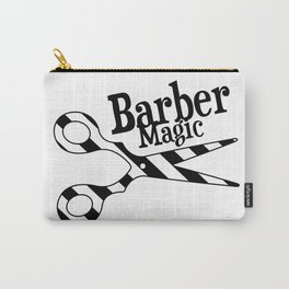 Barber Magic - black and white Carry-All Pouch