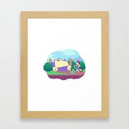 Teeny Tiny Worlds - Route 12 Framed Art Print