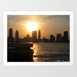 Sunset in the Bay Art Print