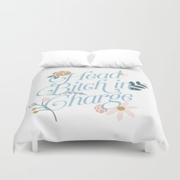 Head Bitch in Charge Duvet Cover
