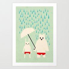 Under your umbrella Art Print