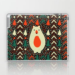 Bear, dots and Christmas trees Laptop & iPad Skin